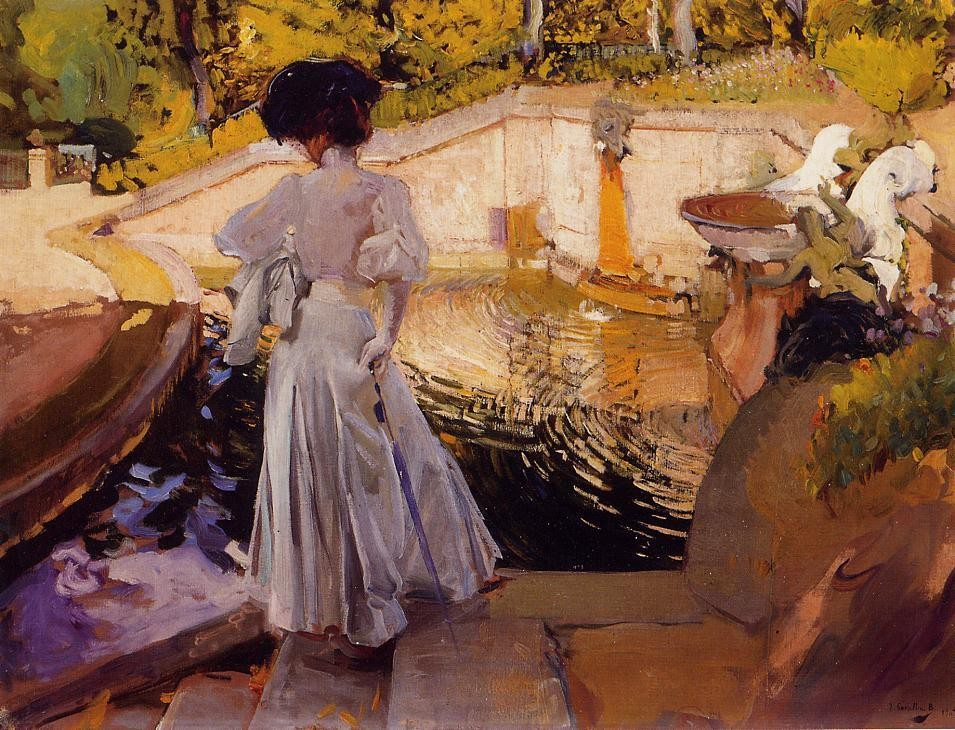 Maria Watching the Fish Granja, 1907 Joaquin Sorolla